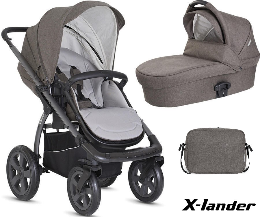 SET 2v1 X-Move + X-Pram Light + X-Bag, Evening grey