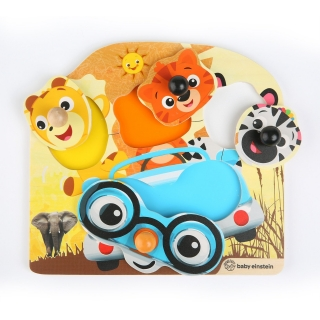 Hračka dřevěná puzzle Friendy Safari Faces HAPE 12m+